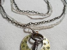 Antique Key on Repurposed Necklace in Houston, Texas