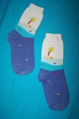 Socks with palm tree, island and fish in Spring, Texas
