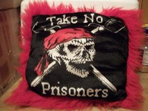 "#11 SKULL PILLOW ""TAKE NO PRISONERS"" - $10 (HARKER in Fort Hood, Texas"